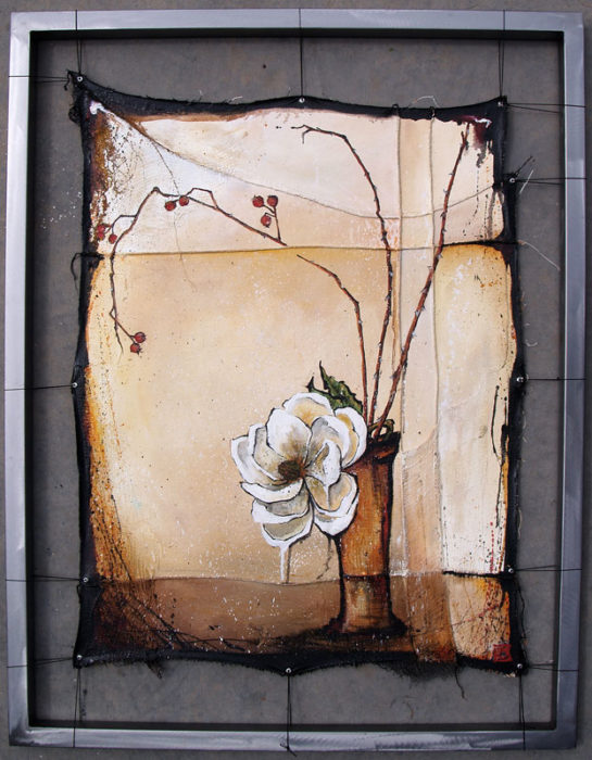 Magnolia with Rose Hips