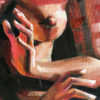 Opie Snow - Oil Painting - She Speaks - Detail 2